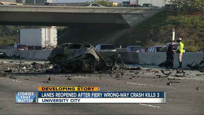 Lanes reopened hours after fatal crash on I-805