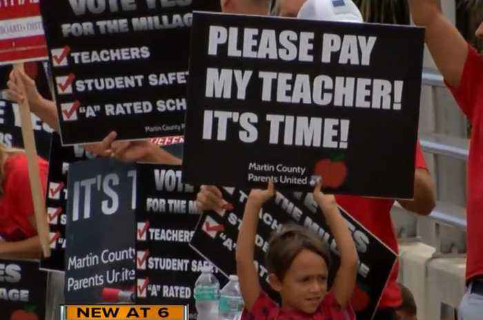 News video: Dozens gather to rally for teachers in Martin County