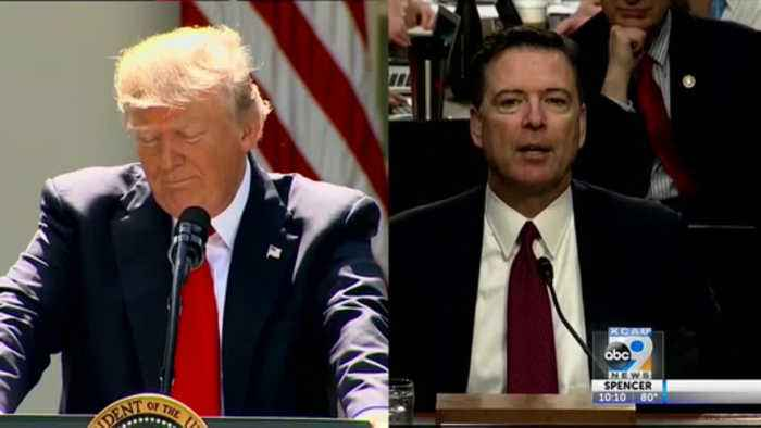 President Trump heated up about former FBI James Comey