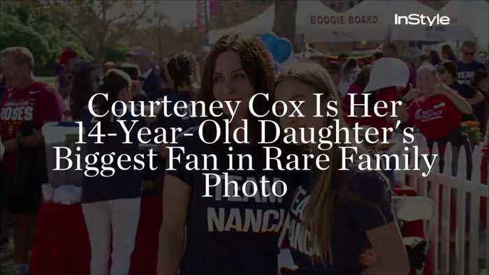 News video: Courteney Cox Is Her 14-Year-Old Daughter's Biggest Fan in Rare Family Photo