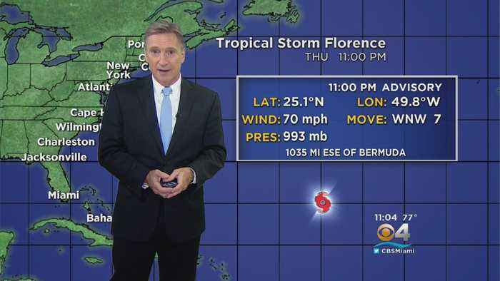 News video: Tropical Storm Florence Expected To Strengthen Back Into Hurricane