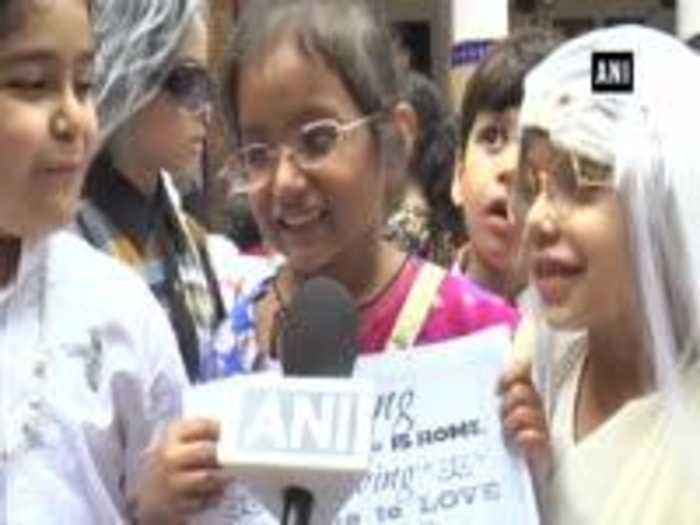 Students celebrate Grandparents' Day in Moradabad's school