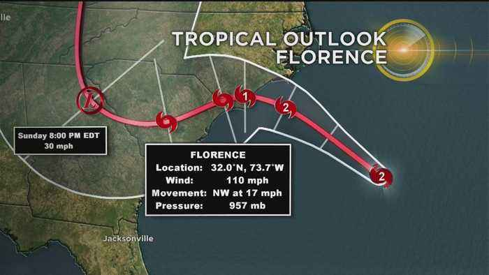 Hurricane Florence Downgraded To Category 2 Storm, Still Concerned Life-Threatening