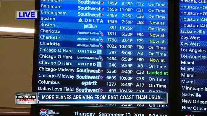 Flights from Charlotte on time ahead of Hurricane Florence
