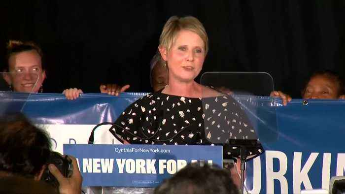 Cynthia Nixon gives concession speech after losing New York primary
