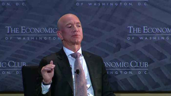 Amazon's Bezos says Trump should be 'glad' of media scrutiny