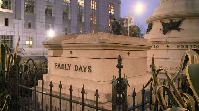 News video: STATUE REMOVED: Controversial statute removed from San Francisco Civic Center