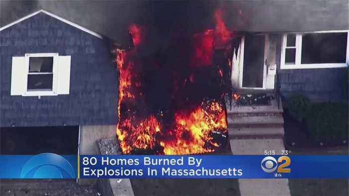 News video: 80 Homes Burned By Explosions In Massachusetts