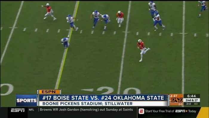 Oklahoma State defeats Boise State, 44-21