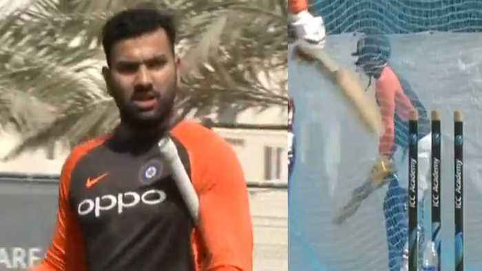 News video: Asia Cup 2018: Rohit Sharma & Team sweat it out ahead of match against Hong Kong | वनइंड&#x93F
