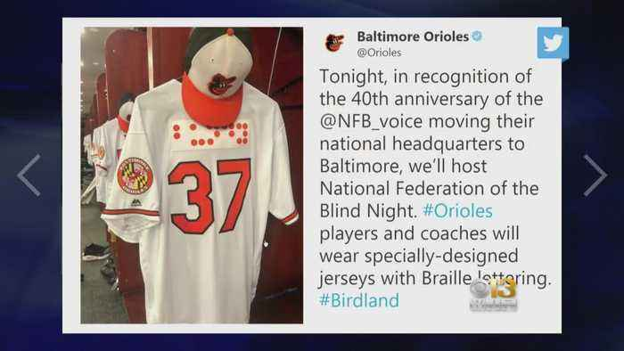 ed4bef38c Orioles first US pro team to incorporate braille on uniforms - One News Page