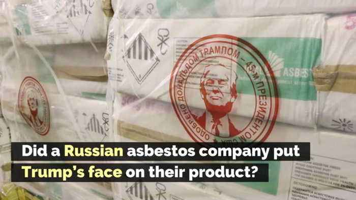Did a Russian Asbestos Company Put Trump's Face on Their Product?
