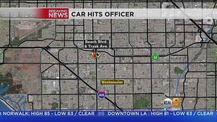 News video: Officer Struck By Car At Traffic Stop In Westminister Area
