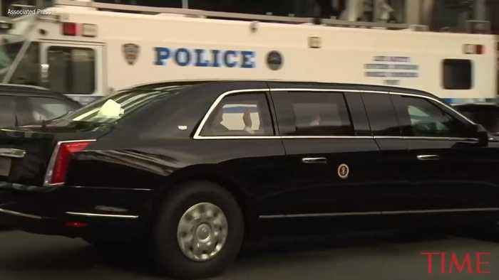 President Trump's New Presidential Limo Made Its - One ...