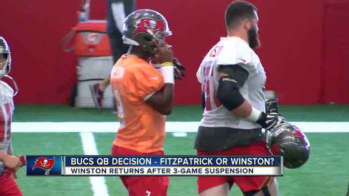 Jameis Winston practices, Tampa Bay Buccaneers still mum on starting quarterback for Sunday's game