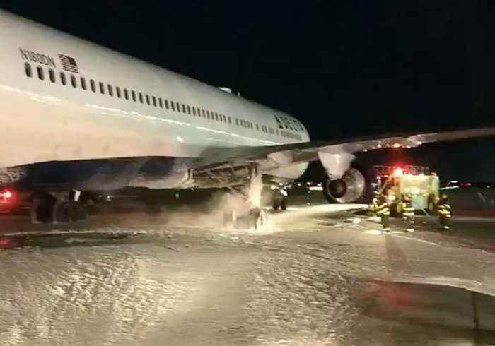Delta Air Lines Aircraft Aborts Takeoff at JFK Airport After Landing Gear  Fire