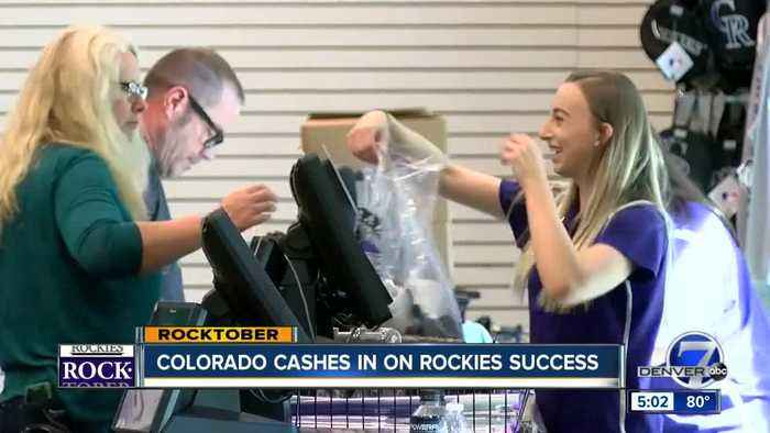 Rockies fans pouring into stores to snag postseason gear after win against the Cubs
