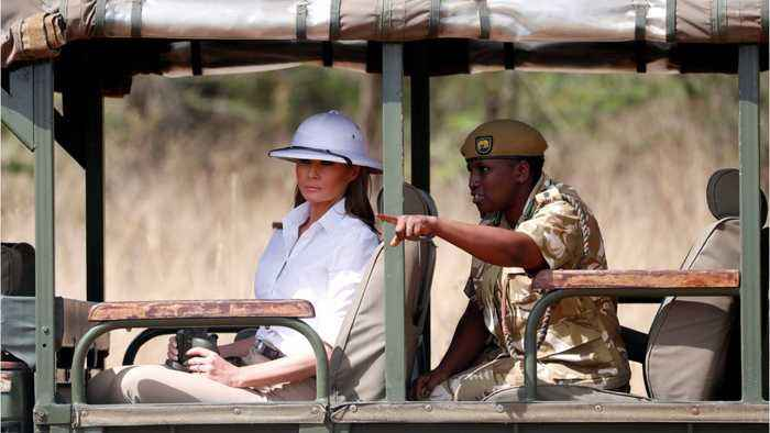 Elephant Charges At Melania Trump During Her Tour Of Africa