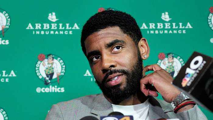 News video: Kyrie Irving Says He Will Re-Sign With The Celtics Next Year
