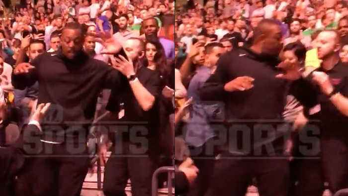 Paul Pierce Fights With Security Guards & Calls Them RAacist At McGregor vs Khabib UFC 229 Fight