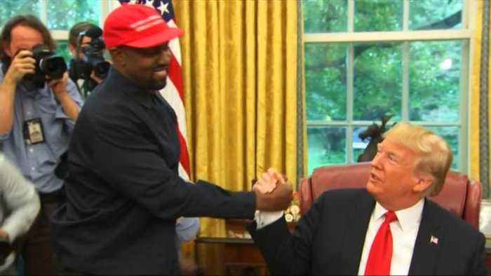 Kanye West Hugs President Trump During White House Visit