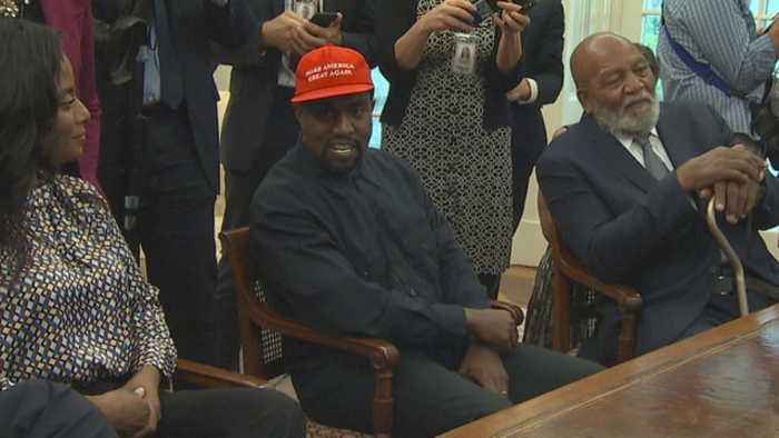 Kanye West visits Trump in the Oval Office