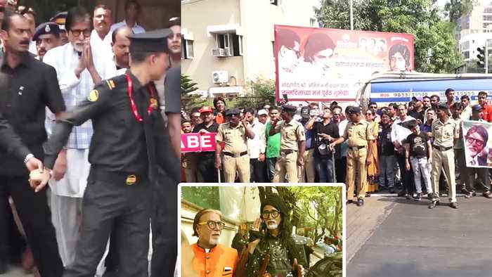 Amitabh Bachchan Celebrates his Birthday with fans outside Jalsa; Watch video | FilmiBeat