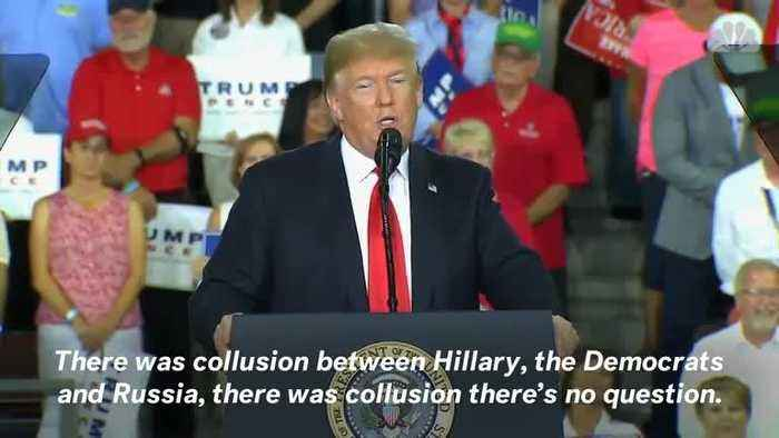 Donald Trump Says Hillary Clinton Colluded With Russia During Pennsylvania Rally