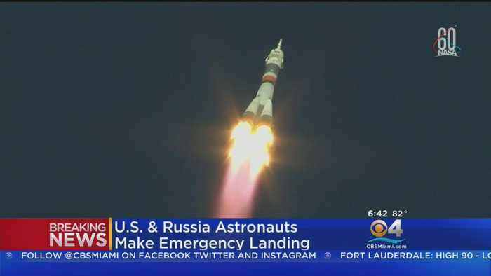 News video: US, Russian Astronauts Make Emergency Landing After Lift Off