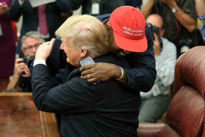President Trump Holds Bizarre Press Conference With Kanye West