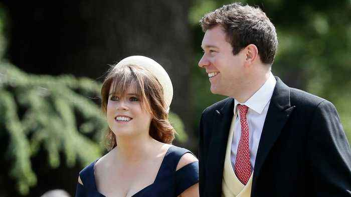 News video: Princess Eugenie And Jack Brooksbank Arrive For Wedding Festivities
