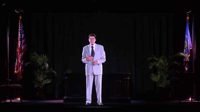 News video: Ronald Reagan hologram greets visitors at ex-president's library