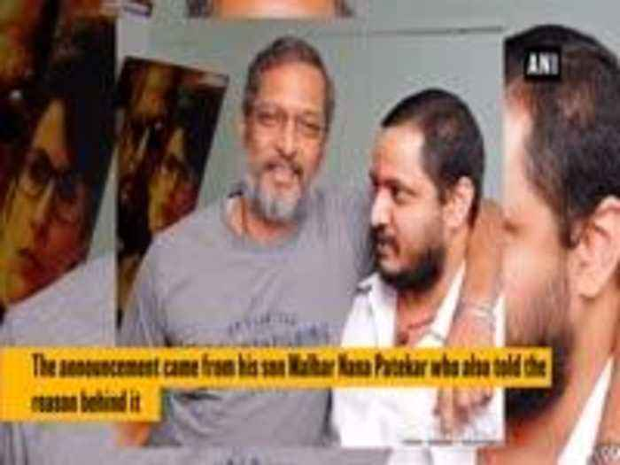 News video: Nana Patekar exits 'Housefull 4'