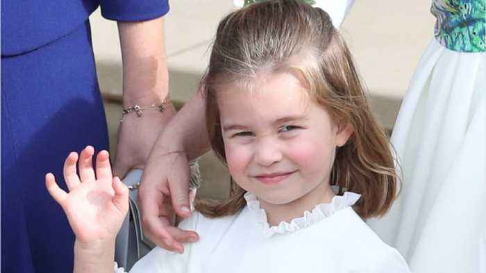 Princess Charlotte Fell Up The Stairs At Princess Eugenie's Wedding