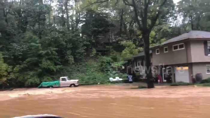 Flash flood warning issued as heavy rain pours down in southwest Virginia