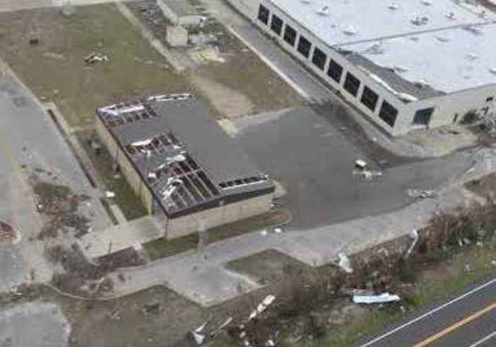 Aerial Footage Shows Florida Air Force Base Damaged by Hurricane Michael in Panama City