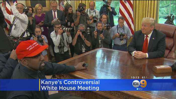 Kanye West Makes Controversial White House Visit, Goes On 10-Minute Rant