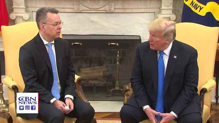 News video: Released Pastor Brunson Meets And Prays For President Trump At White House