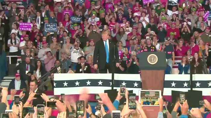 Trump praises release of Pastor Brunson at Kentucky rally