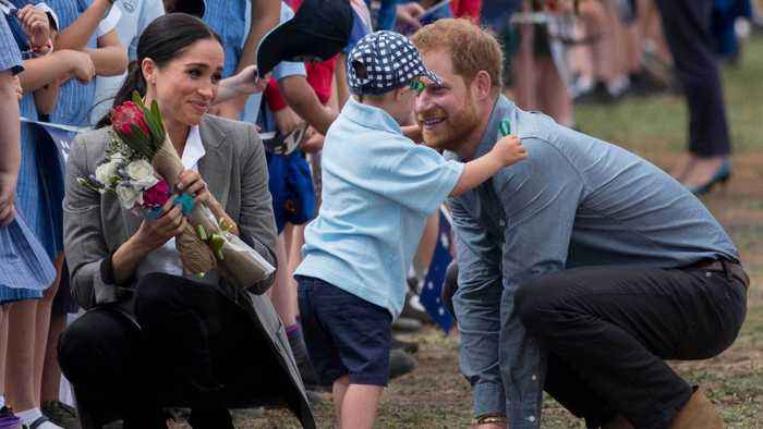 A 5-Year-Old Boy Breaks Royal Protocol To Hug The Duke & Duchess Of Sussex