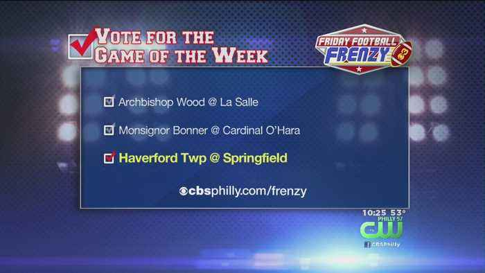 Haverford Township @ Springfield Is This Week's Friday Football Frenzy Game Of The Week October 19, 2018