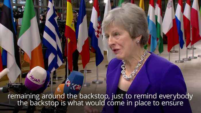 "Theresa May has confirmed she is ready to consider a delay of ""a matter of months"" in Britain's final departure from the EU in order to avoid a hard border in Ireland"
