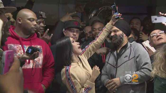 Cardi B Hands Out Free Coats At Public Housing Complex