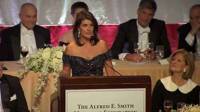 Nikki Haley dishes zingers at Al Smith dinner