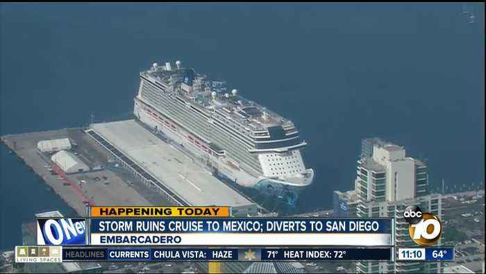 Storm ruins cruise to Mexico, diverts to San Diego