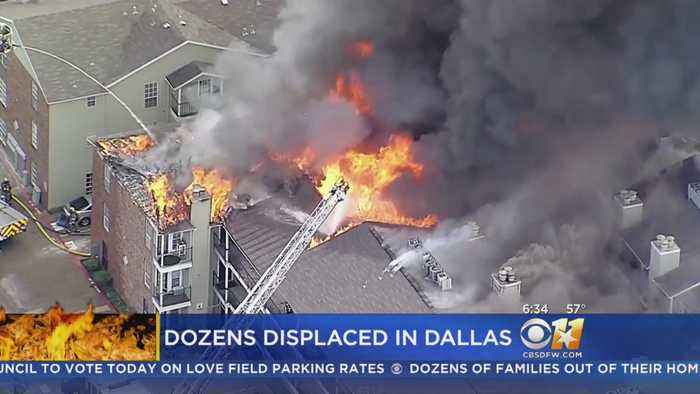 Dozens Of Families Left Homeless After 4-Alarm Dallas Apartment Fire