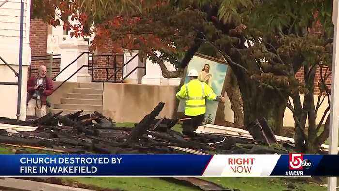 Painting Of Jesus Survives 7 Alarm Fire That Destroyed A M Achusetts Church