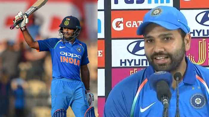 India VS West Indies 3rd ODI:Rohit Sharma hails Ambati Rayudu for supportive century |वनइंडि