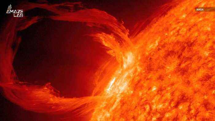 See 80,000 Miles of Plasma Bursting from the Sun's Surface