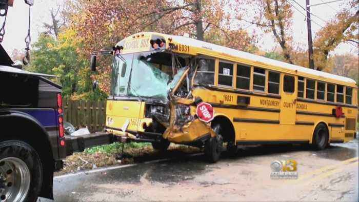 9 Hospitalized In School Bus Crash With Dump Truck Near DC